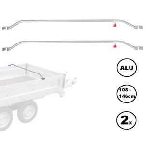 2x-Anhaenger-Flachplanenbuegel-Aluminium-verstellbar-108-146-cm-Knaufschraube