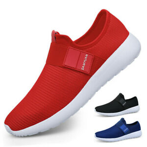 Women-039-s-Slip-On-Sneakers-Casual-Sports-Breathable-Running-Walking-Tennis-Shoes