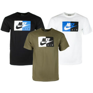 Nike-Air-Men-039-s-Short-Sleeve-Color-Blocked-Logo-Athletic-Graphic-T-Shirt