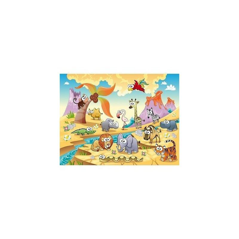 Carta Dipinto Bambino Gigante Animali 617