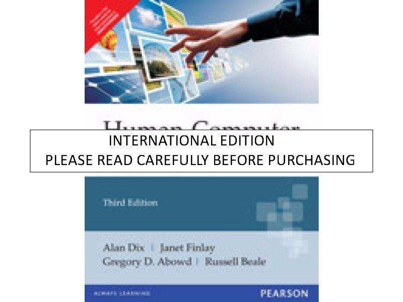 Human Computer Interaction Book By Alan Dix