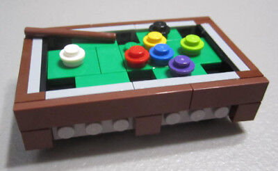 LEGO Pool Table Cue Stick Stand Arcade Game Room Sport Bar Billiards City Town
