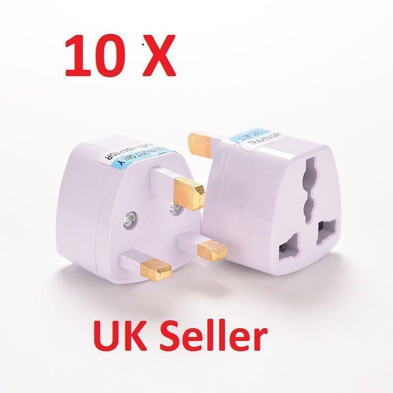 10 x universel adaptateur de voyage au au au us eu to uk 3 broches ac power plug adaptateur connect 39ff2f