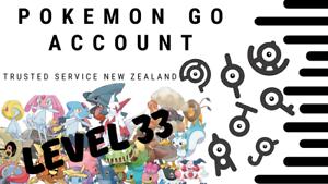 Pokemon Go Account Level 34 1 4 Mil Dust 15x Shiny 32x