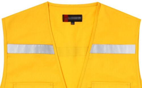 Mens T//C Reflective Vest Utility Fishing Hiking Hunting Vests US S~XL 25