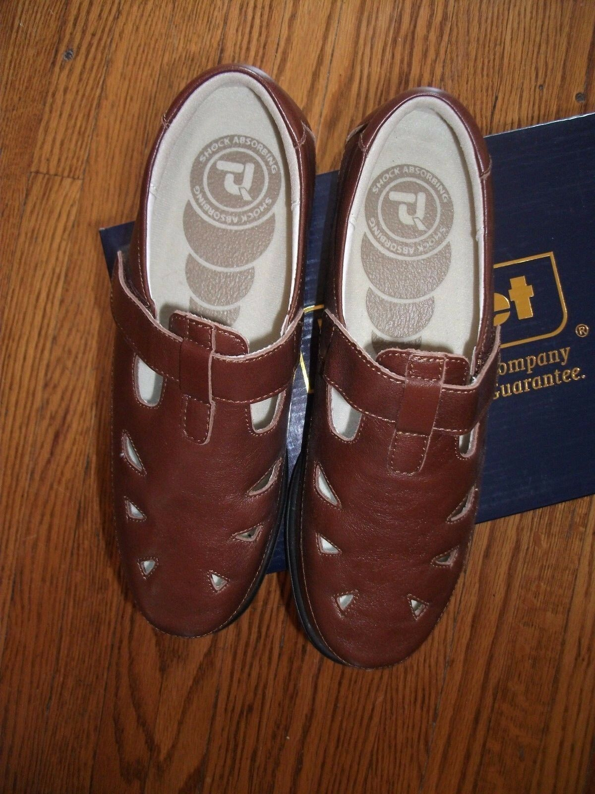 PROPET 9W Donna 9W PROPET Brown Pelle Ladybug Shoes Shock Absorbing Heel NIB df8323