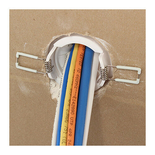 """4 Pack Speedport Spring Lock 2"""" Cable Wire Pass Thru Wall Port White CON6060SPZ"""