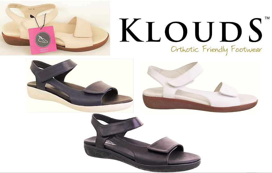 Klouds shoes  Orthotic friendly comfort leather Sandals - Lula