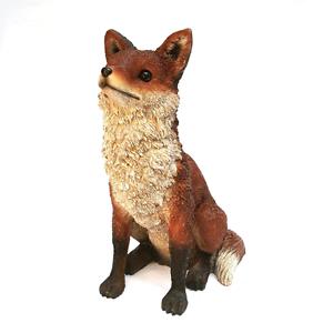 Image Is Loading Fox Statue Sculpture Realistic 15in Lifelike Yard Lawn