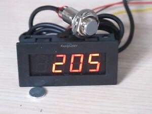 4 digital red led tachometer rpm speed meter hall. Black Bedroom Furniture Sets. Home Design Ideas