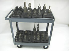 BIG LOT OF 16 TRAYS FOR #40 CAT40 CT40 BT40 NMBT40 CNC TOOLHODERS STORAGE  RACKS