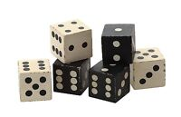 Mango Wood Decorative Dice, Set Of 6 In Bag, 2 Square Each, By Creative Co-op