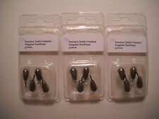 3/16 oz Tungsten TEARDROP DROPSHOT Weights - Natural/silver color
