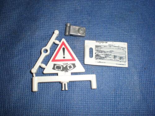 Playmobil Police Policeman Set Accident Sign Camera Log Blank