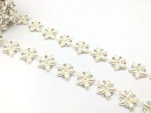 Stunning Wedding Stars Crystal Rhinestone Chine Applique Sewing on Star Trim