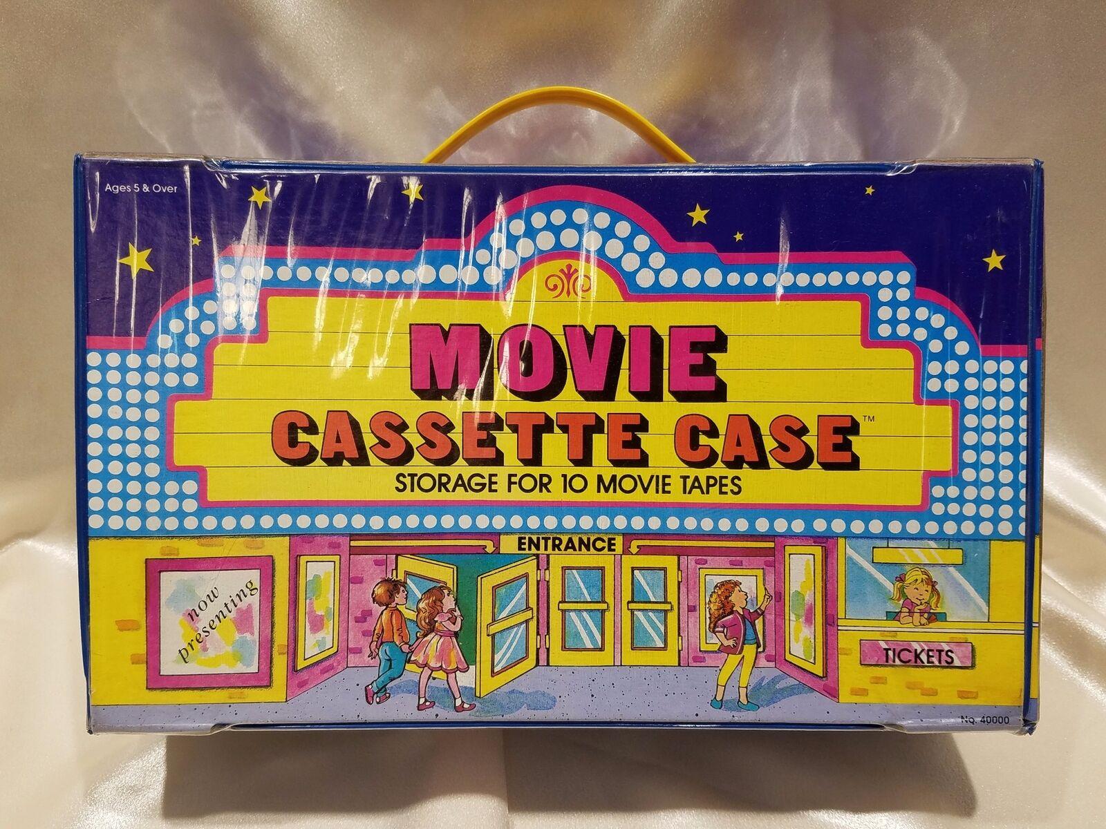 Rare HTF Vintage Tara Toy Movie Cassette Case VHS Tapes Storage Theatre