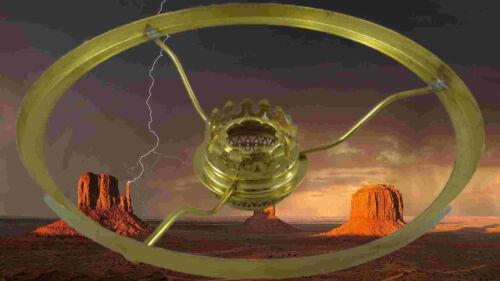 Petroleum Leuchte Schirmreif Schirmreifen 190mm mit Korb 14 Lampen Ring Messing