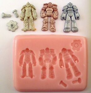 ROBOTS-SILICONE-MOULD-FOR-CAKE-TOPPERS-CHOCOLATE-CLAY-ETC
