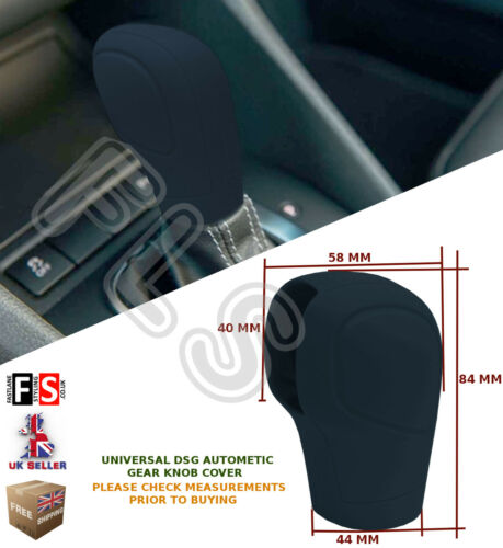 AUTOMATIC CAR DSG SHIFT GEAR KNOB UNIVERSAL COVER PROTECTOR BLACK–Ford 15