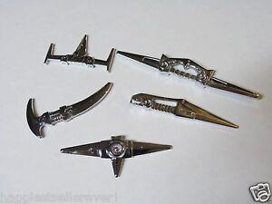 Original-1981-Voltron-GB36-Yellow-Blue-Red-Green-Black-Lion-Sword-Weapon-Lot-Set