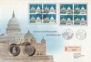 Numisbrief-Zwitserland-USA-2-francs-dollar-700-Jaar-Helvetia-080