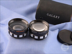 49mm Galaxy High-Definition Telephoto & Semi Fisheye Adapters - VGC - 801