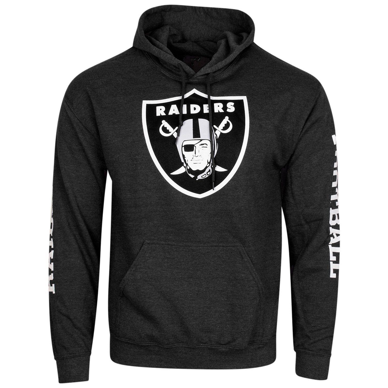 Majestic sideprint cappuccio-Oakland Felpa con cappuccio-Oakland sideprint Raiders Nero-M 363f6f