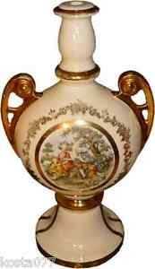 Large-Antique-Victorian-Style-Lamp-Body-Base-Ceramic-Colonial-Couple-Pattern