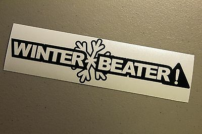 Beater Funny Decal Vinyl Sticker JDM Euro Drift Lowered Stance Illest