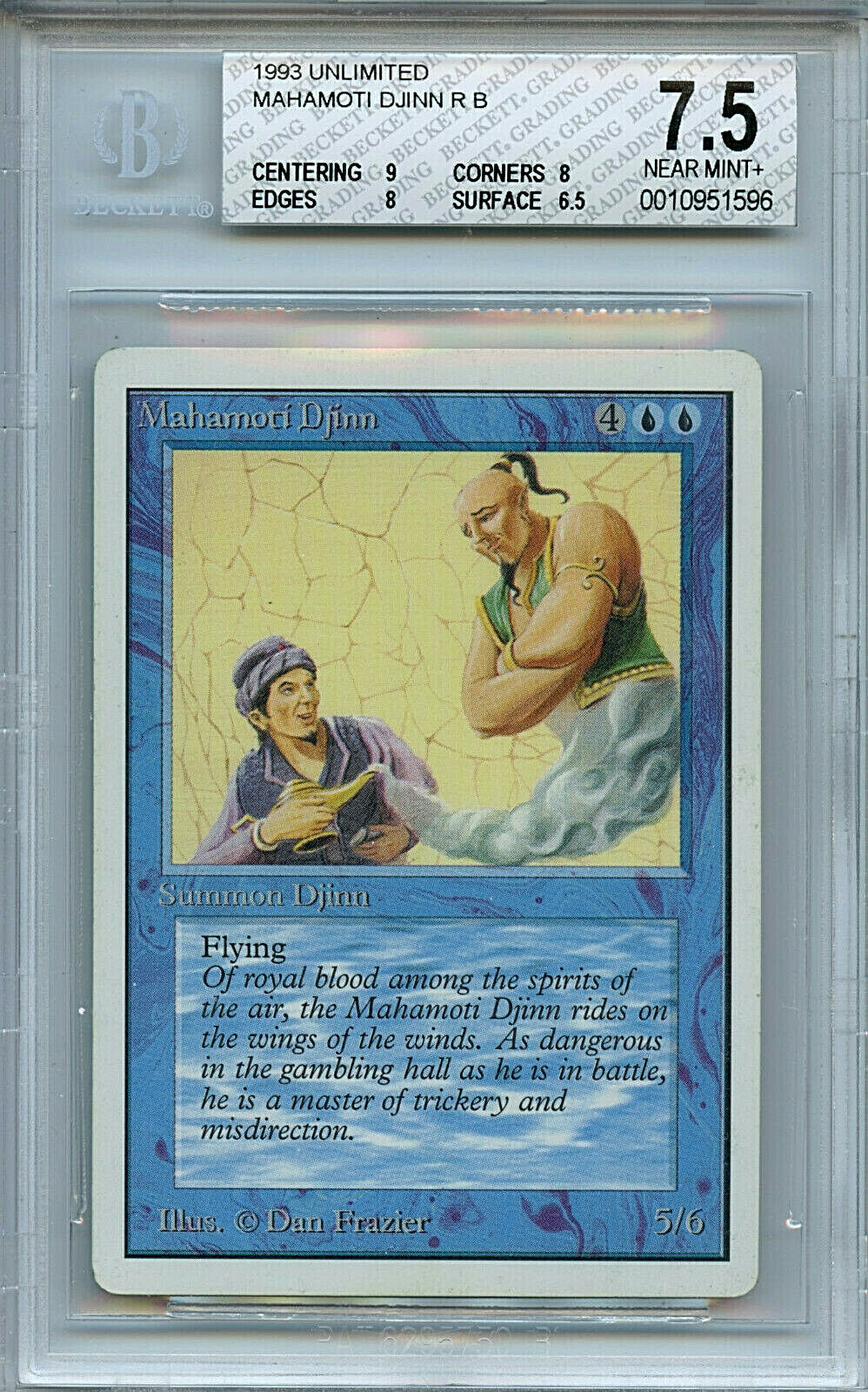 MTG Unlimited Mahamoti Djinn BGS 7.5 NM+ Card Magic Amricons 1596