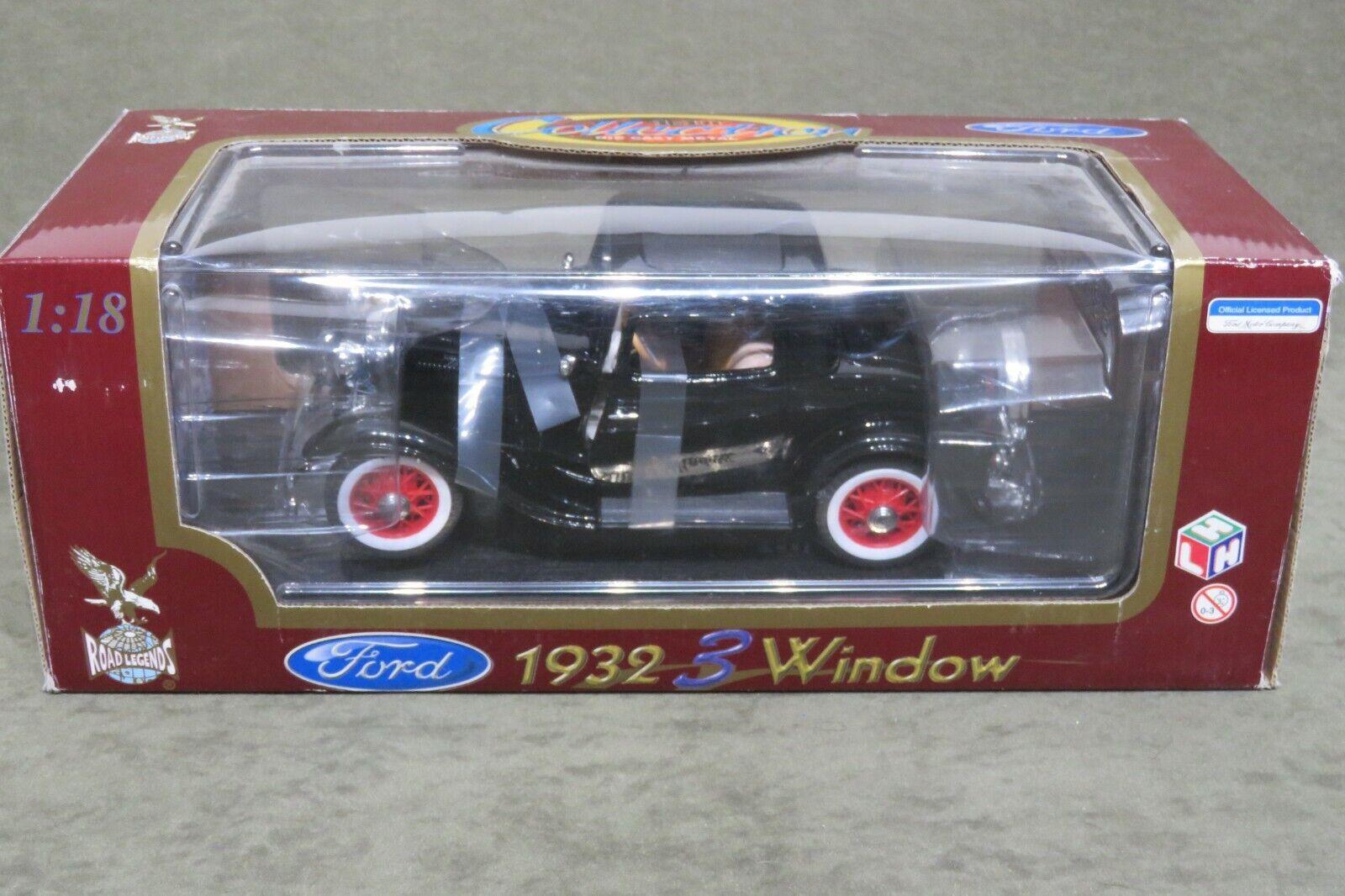 grandes ahorros Road Legends Legends Legends 1932 Ford 3 Window Coupe Negro 1 18 escala no. 92248  orden en línea