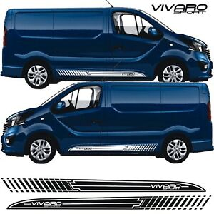 Vauxhall-Vivaro-short-wheel-base-side-stripes-decals-stickers-sport-any-colour