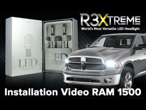 R3 5202 9009 LED Headlight Kit w//CREE Bulbs 6000K High Power vs 100W 120W 160W