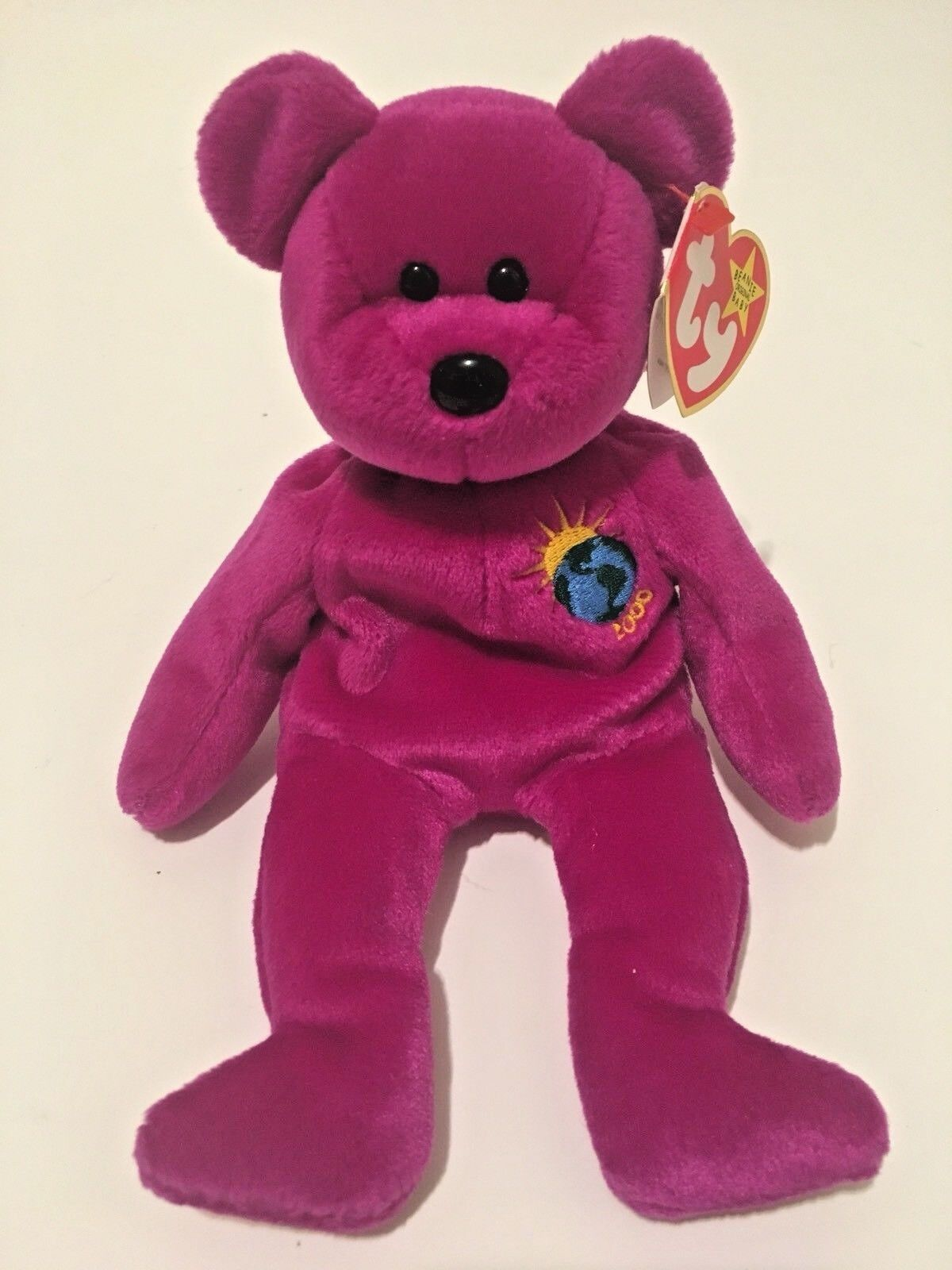 RARE Ty Beanie Babies Millennium Bear Millenium Mint With Tags Limited Ed