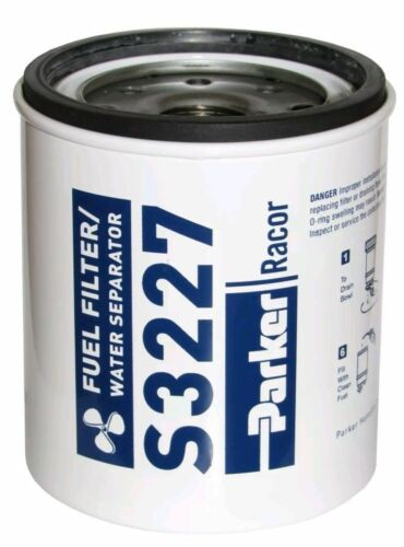 Racor Gas Spin-On Filter//Water Separator-Replacement Filter ONLY S3227 Marine MD