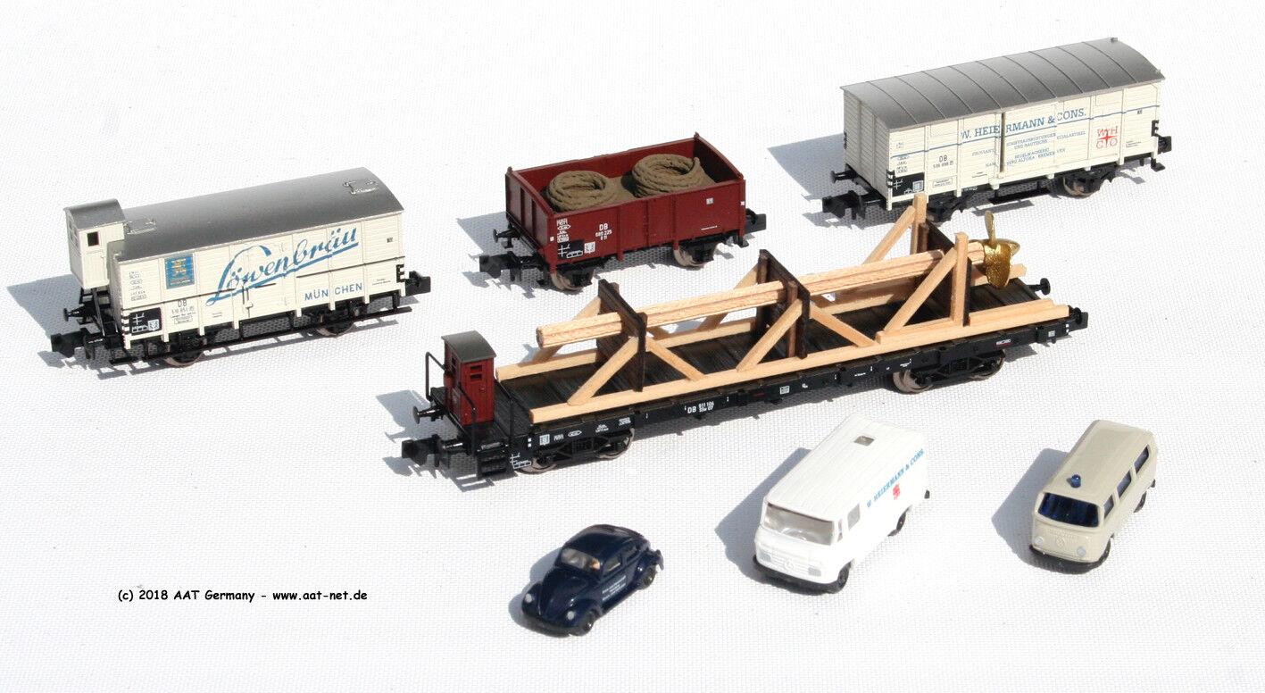 Minitrix N 15094 - Set Vagoni Merci Dotazione Nave, DB, Ep. III