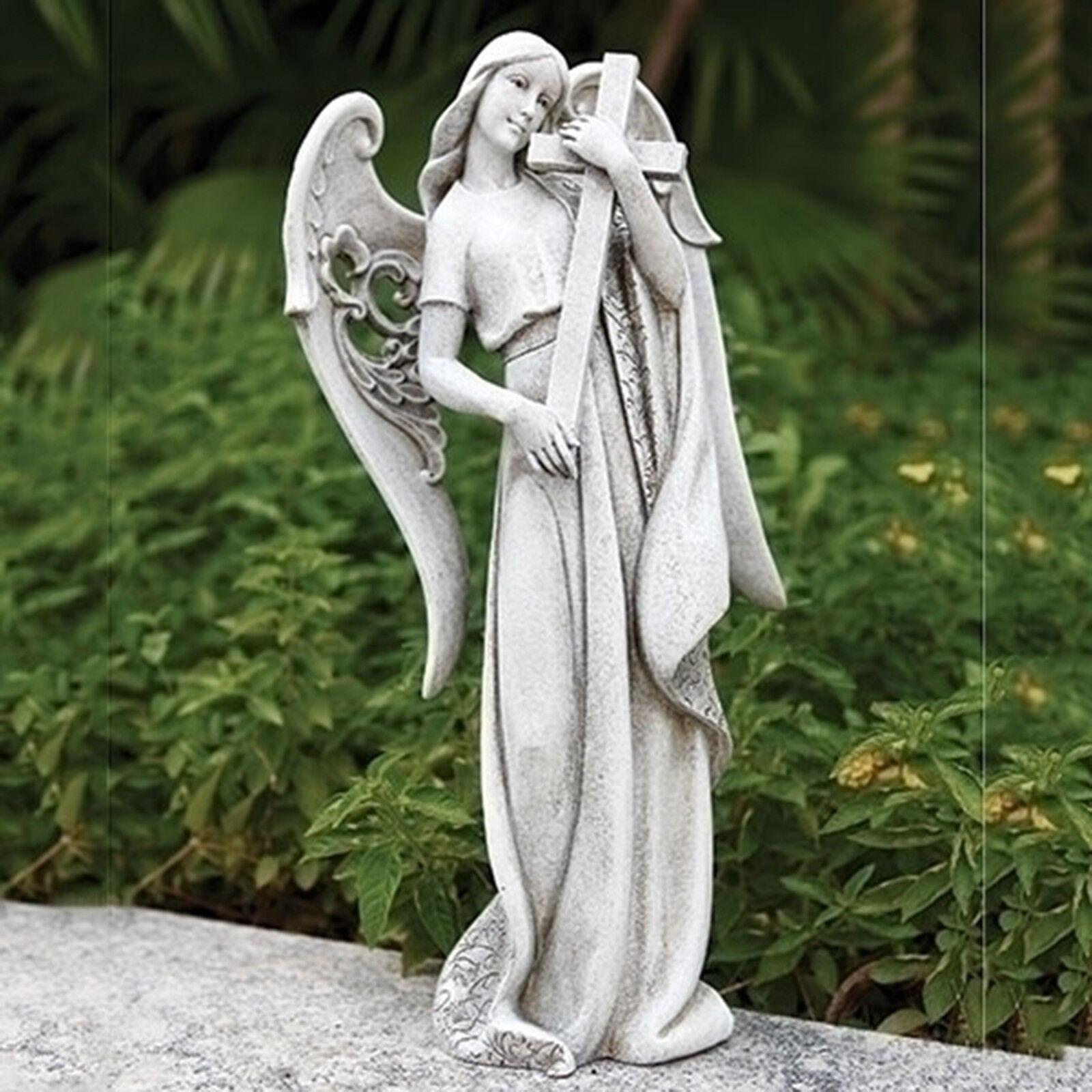 18.5 H ángel holding Cruz Exterior De Jardín Estatua Joseph's Studio   600128