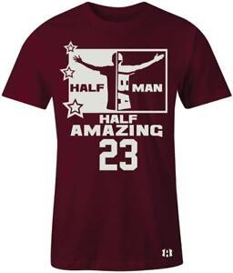034-Half-Man-Half-Amazing-034-23-T-Shirt-to-Match-034-Bordeaux-034-13-039-s