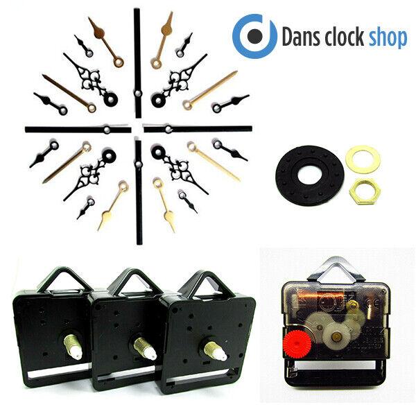 25 Packung Leise Supersweep Quartz Uhrwerk Mechanismus Motor Mit Metall Hand