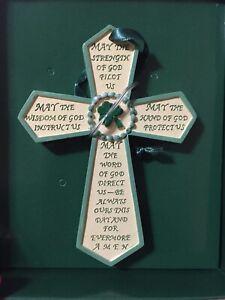 Kurt-S-Adler-Irish-Prayer-Cross-Christmas-Ornament-Resin-NEW