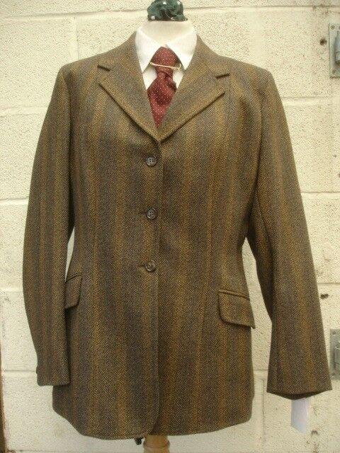 Damas Marrón Y verde Show Hacking Tweed jackets caza a caballo 36 38 40 42 41