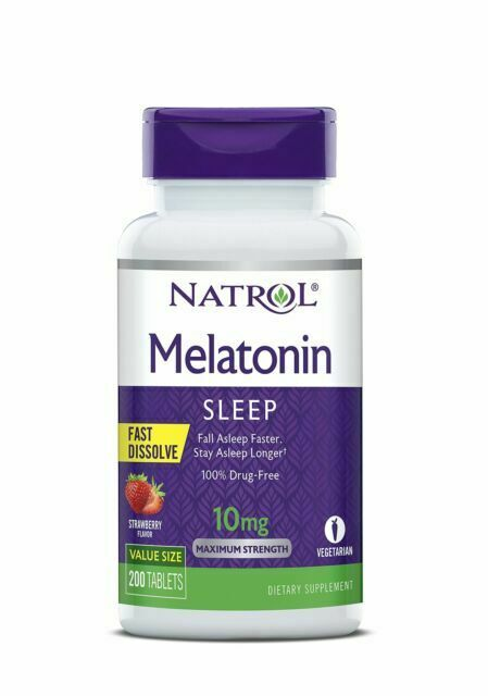 Natrol Melatonin Sleeping Aid Supplement - 200 Tablets, Stra