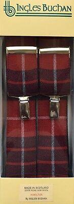 Brioso Uomo Scozzese Clan Bretelle Disponibile In Vari Tartan Prodotto In Scozia