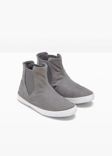 Neu Hightop Sneaker mit Einsatz 948222 in Grau 42