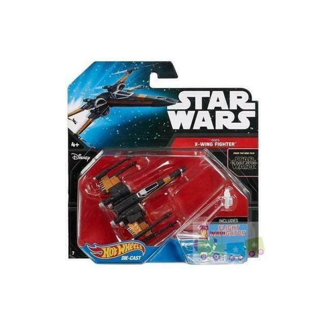 New* Hot Wheels Poe/'s X-Wing Fighter w// Flight Navigator Lot# EB28 Star Wars