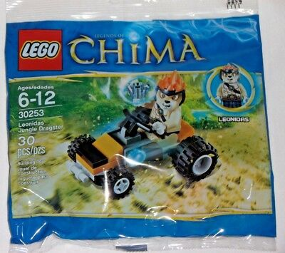 BUY 6 POLYBAGS = FREE SHIPPING * LEGO Chima 30253 Leonidas Jungle Dragster