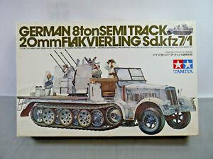 Tamiya-35050-German-8ton-Semi-Track-0-25-32in-Flakvierling-Model-Kit-1-3-5