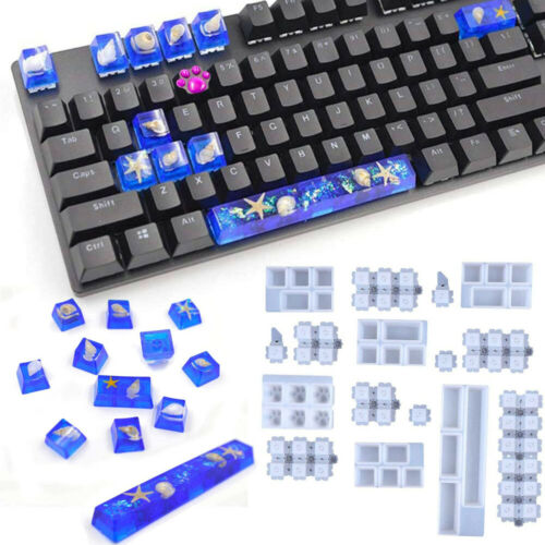 Crystal Keyboard Molds Key Cap Resin Mold Silicone Mould Resin Making Tools