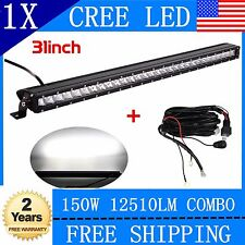 150W combo 31INCH Single Row CREE LED OFFROAD Light Bar UTE 4X4WD Jeep 30+Wiring