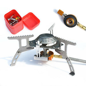 Convenient Mini Gas-Burner Fishing Outdoor Cooking Camping Picnic Cook Stove UK